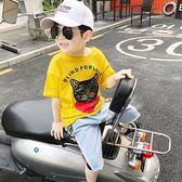 男童上衣 男童短袖T恤薄款新款夏裝韓版個性潮流中大童半袖上衣體恤潮 傾城小鋪