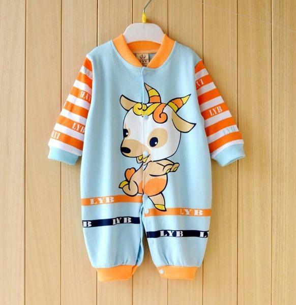 男Baby男童連身衣純棉俏皮小羚羊印花連身衣