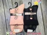 【京之物語】日本製造玫瑰金蔥點綴花苞女性短襪(黑色/粉色)