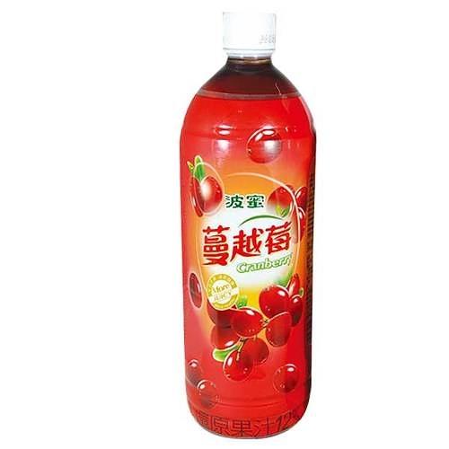 波蜜 蔓越莓綜合果汁飲料 980ml