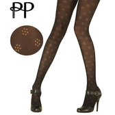 『摩達客』英國進口Pretty Polly 小花圖紋彈性褲襪(60112076001)