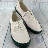 BRAND楓月 CELINE 白色 綠底 小白鞋 帆布鞋 #40