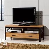 【森可家居】鋼克里4尺電視櫃 10ZX350-6 長櫃 木紋質感 MIT