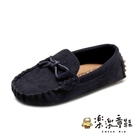 【樂樂童鞋】(斷碼出清/不退不換) 韓版流線豆豆鞋 S670 - 休閒鞋 女童 流線造型 男童 皮鞋 豆豆鞋