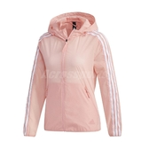 adidas 外套 Windbreaker 3S Jacket 粉紅 白 女款 風衣 運動 訓練 【ACS】 FT2883