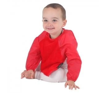 紐西蘭 Mum 2 Mum 神奇長袖吸水圍兜-紅 (6M~18M) 吃飯衣 口水衣 防水衣