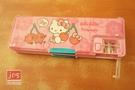 Hello Kitty&Toripicals 凱蒂貓 熱帶水果鳥 單按鍵雙開筆盒 鉛筆盒 粉 KRT-218274
