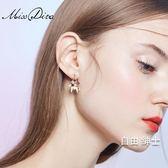 生肖耳環女氣質個性簡約小馬耳釘超仙髮飾品 交換禮物