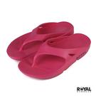 Royal 桃粉色 橡膠 防水 蹺蹺板 夾腳拖鞋 女款 NO.I6810【新竹皇家】