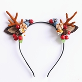 髮飾 日韓森女鹿角髮箍寫真道具麋鹿頭箍頭飾髮飾花仙子造型-凡屋