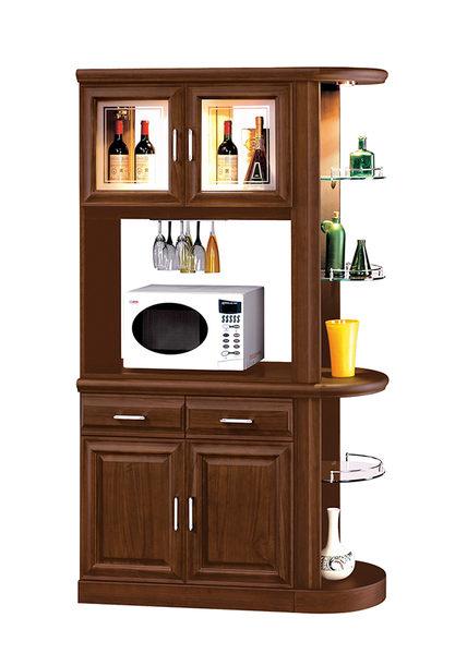 【南洋風休閒傢俱】組合櫃組系列 -實木玄關櫃 玻璃碗櫥櫃 紅酒展示櫃 福錦3.7尺雙面櫃組(JH544-2)