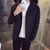 夾克外套-連帽時尚休閒百搭保暖夾棉男外套3色73qa5【時尚巴黎】
