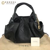 【雪曼國際精品】LOEWE 柔軟小羊皮肩背黑色空氣包 二手9.3成新