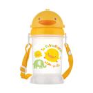 全新台灣製 黃色小鴨滑蓋水壺350cc/兒童水壺/嬰幼兒水壺/十字切口軟質吸管/不溢漏830419