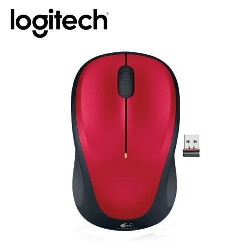 【logitech 羅技】M235 無線滑鼠 紅 【限量送束口收納袋】