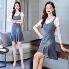 牛仔吊帶裙女春夏季2021新款韓版顯瘦背帶裙氣質連身裙ins時尚款 維多原創