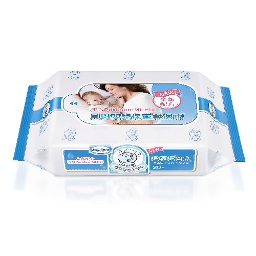 貝恩嬰兒EDI保養柔濕巾20抽超厚超含水~不含酒精、螢光劑、香料/臉口鼻適用~德國授權台灣製