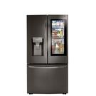 LG樂金821公升敲敲看門中門對開WIFI自動製冰門外取冰取水星夜黑冰箱GR-QBFL87BS