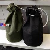 【貝貝】帆布 雙肩包 抽繩 束口袋 旅行包 健身包