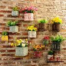 墻面裝飾品 創意奶茶店墻壁飾品墻上花盆壁...