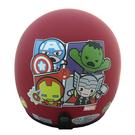 【東門城】EVO 智同 CA-309 復仇者聯盟Q版(消光紅) 兒童半罩式安全帽