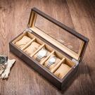 手錶盒 木質天窗手錶盒五格木制機械錶展示盒首飾手錬收納盒LX 智慧e家
