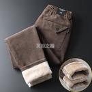 燈芯褲子男加厚裝直筒寬鬆外穿季燈草條休閒長褲