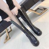 靴子女新款小跟韓版學生百搭粗跟英倫風復古ulzzang網紅長靴
