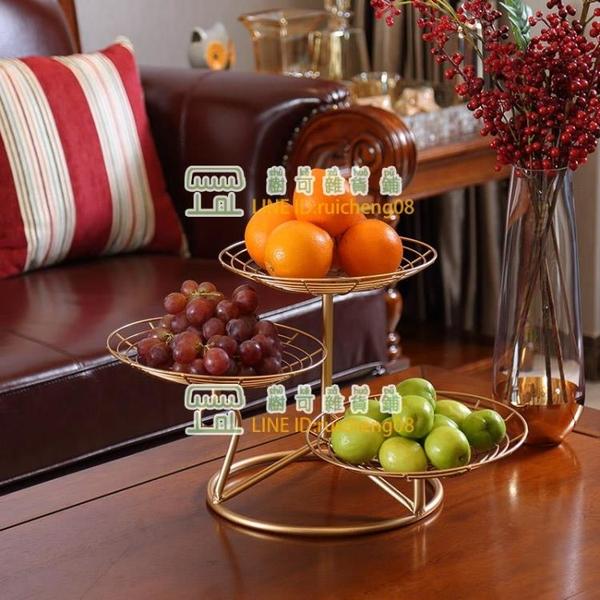 水果盤客廳創意家用果盤茶幾糖果盤歐式多層拼盤【樹可雜貨鋪】
