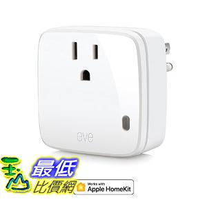 [107美國直購] Eve Energy Smart Plug Power Meter with Apple HomeKit technology Low Energy
