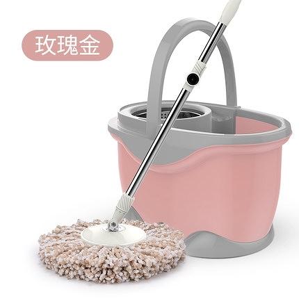 旋轉拖把桶家用自動免手洗墩布擠水拖布地拖手壓甩干不銹鋼托把 向日葵