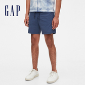 Gap男裝 舒適活力亮色鬆緊休閒短褲 574070-夜空藍