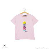 【INI】可愛俏皮、小女孩背影圓領棉T上衣.粉色