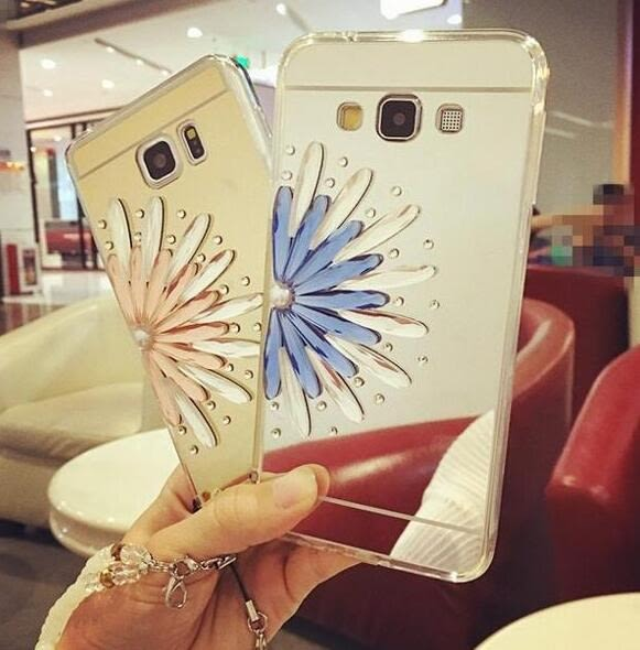 【SZ64】PP iphone 6 plus手機殼 奢華半花鑲鑽電鍍鏡面TPU iphone 6s 手機殼 iphone SE/5S手機殼