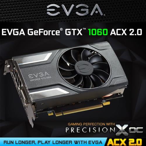 EVGA GTX1060 6GB SC 顯示卡 06G-P4-6163-KR