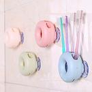 甜甜圈牙刷收納架 浴廁小物 吸盤式牙刷架