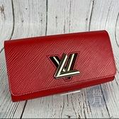 BRAND楓月 LOUIS VUITTON LV M61179 紅色 EPI TWIST 經典LODO 旋轉 長夾 錢包