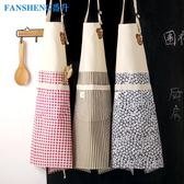 (中秋大放價)圍裙居家廚房做飯圍裙棉麻加厚耐磨防污圍腰女日式可愛工作服時尚XW