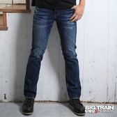 BIG TRAIN BT色線小直筒-男-中藍
