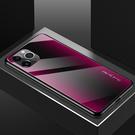鋼化玻璃IPhone 11手機殼 簡約防摔蘋果11手機套 蘋果6/6s X/Xs Xs Max漸變紋理保護套 蘋果7/8/XR手機殼