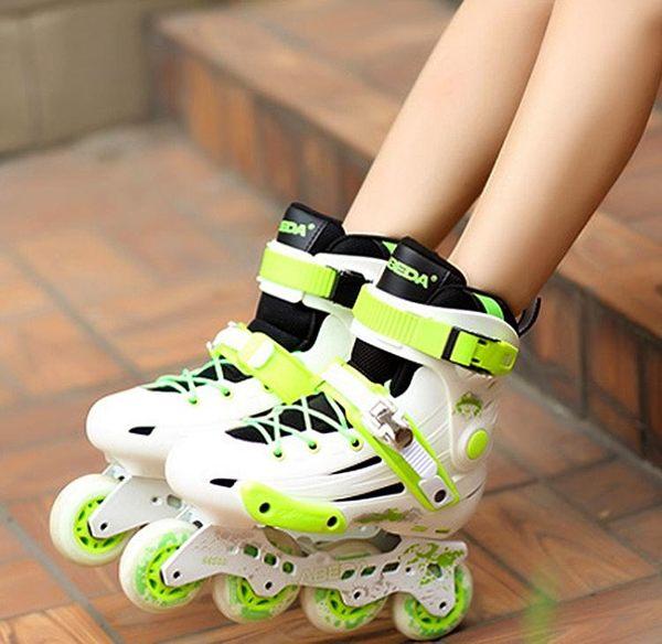 食尚玩家 大學生平花鞋成人溜冰鞋成年直排輪滑鞋新手花式旱冰鞋男女滑冰鞋
