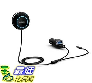 [105美國直購] 車載 iClever Himbox HB01 Hands-Free Car Kit with 3.5mm Aux Jack SiriVoice Activation Dual USB Charger Magnetic