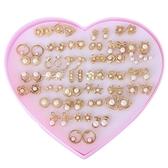 【R.J New York】甜美氣質多款珍珠創意收藏耳環套組(金色)