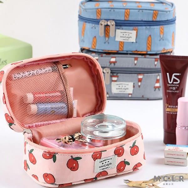 ♚MY COLOR♚卡通圖案手提化妝包 便攜 旅行 收納 防水 多用途 小物 閨密 學生  化妝包【B05】