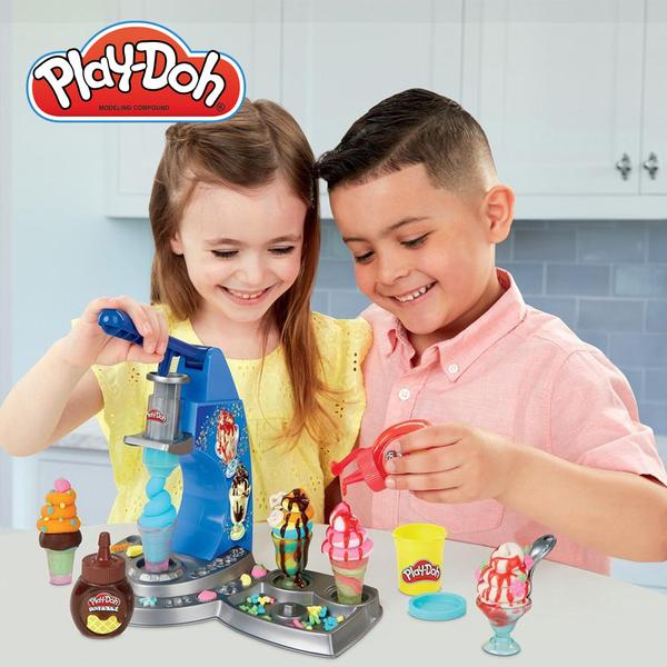 Play-Doh培樂多廚房系列 -雙醬冰淇淋遊戲組