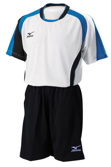 MIZUNO美津濃排球衣(白*藍) 抗UV排球服 亦可做為運動用排汗衣(XL/XXL)
