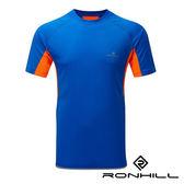 Ronhill 英國 男圓領短袖排汗T恤 05257 閃電藍/螢光橘 戶外│路跑│健身