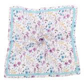LAURA ASHLEY 繽紛花卉圖騰純棉帕領巾(水藍色)989270-2