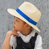 兒童草帽男童大檐沙灘帽夏親子帽母子父子折疊出游涼帽女童遮陽帽