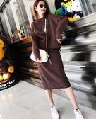 網紅款針織兩件套XL-4XL大碼秋裝女裝2019新款毛衣洋氣套裝200斤寬鬆顯瘦胖妹妹兩件套4F085-6041